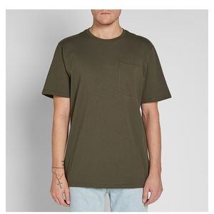 Folsom outfitter pocket tee green